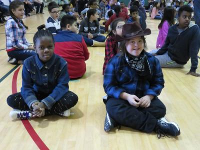 photo of fifth graders waiting to dance